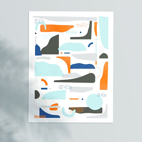 A Hunter in the Snow - Print