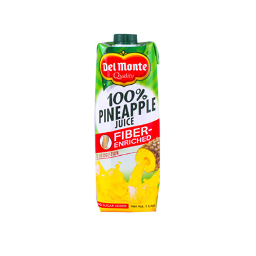 Del Monte 100% Pineapple Juice Fiber 1L