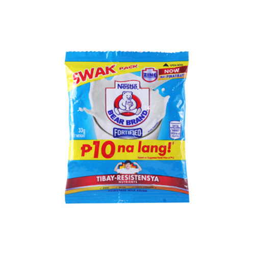 Bear Brand Powder Drink Swak 33g P10
