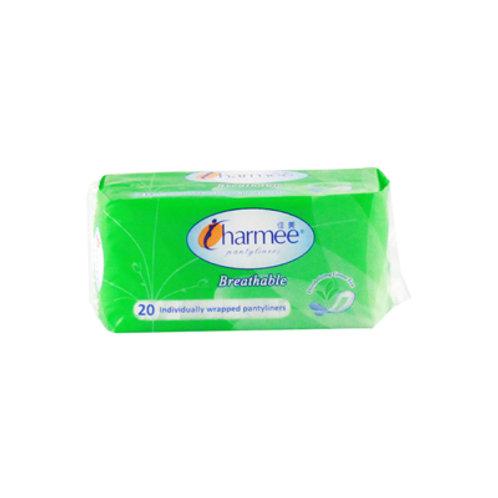 Charmee Breathable Pantyliner Green Tea 20s