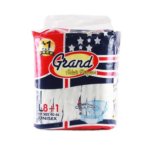 GrandAdult Diaper Large 8s