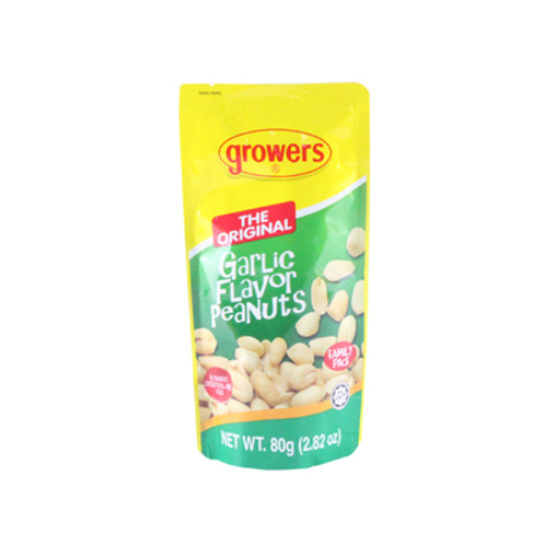 Growers Less Grease Peanuts Garlic Flavor 80g
