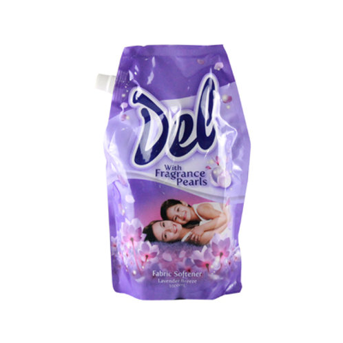 Del Fabric Softener Lavender Breeze 1000ml Stand Up Pouch