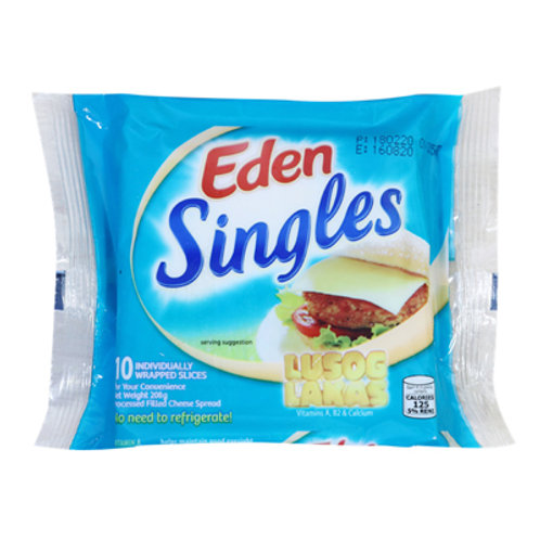 Eden Filled Cheese Singles 10s 208g