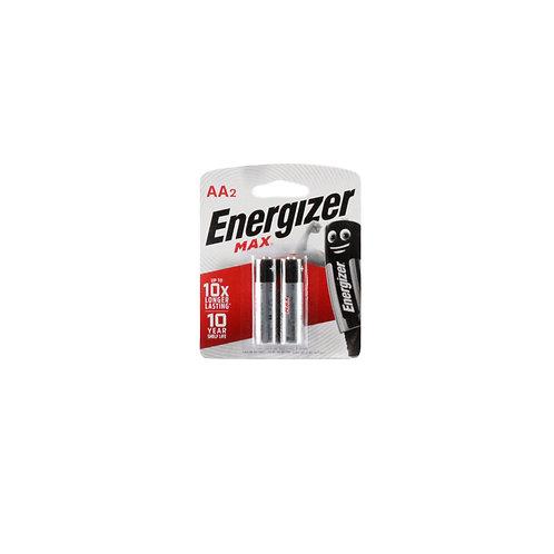 Energizer Battery Alkaline Max AA BP2s