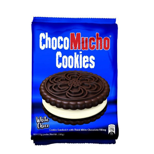 Choco Mucho Cookie Sandwich with Thick White Chocolate Filling 33g x 10's