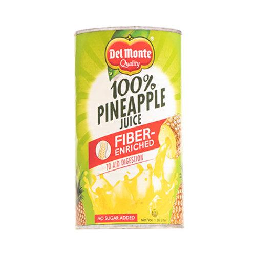 Del Monte Fiber Enrich100% Pineapple Juice 46oz