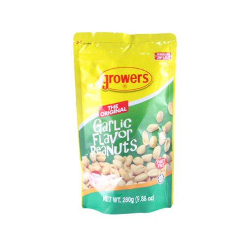 Growers Less Grease Peanuts Garlic Flavor 280g