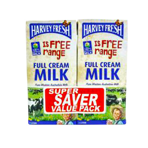 HARVEY FRESH Full Cream Milk 1L x 2s