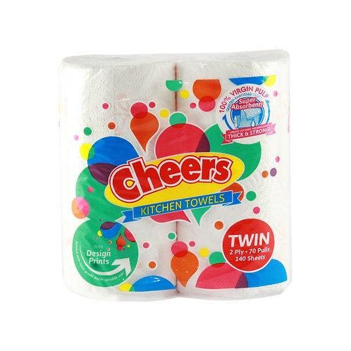 Cheers Kitchen Towel Nested Regular Twin
