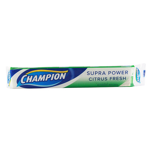 Champion Detergent Bar Natural Citrus Fresh 390g