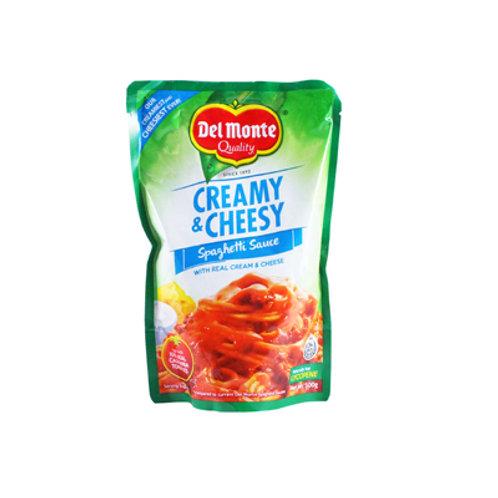 Del Monte Spaghetti Creamy & Cheesy Spag Sauce SUP 500g