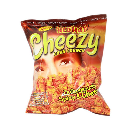 Cheezy Outrageously Spicy and Cheesy Corn Crunch 70g
