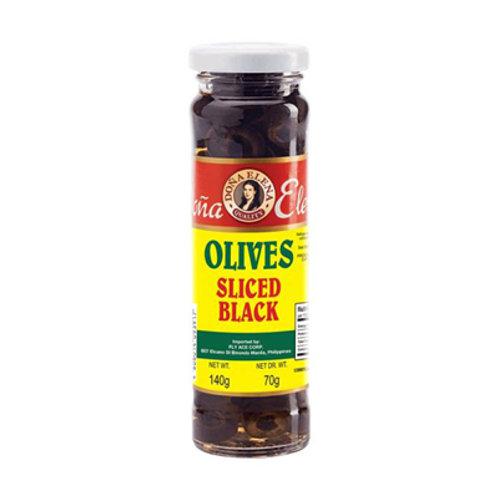 Dona Elena Sliced Black Olives 140g
