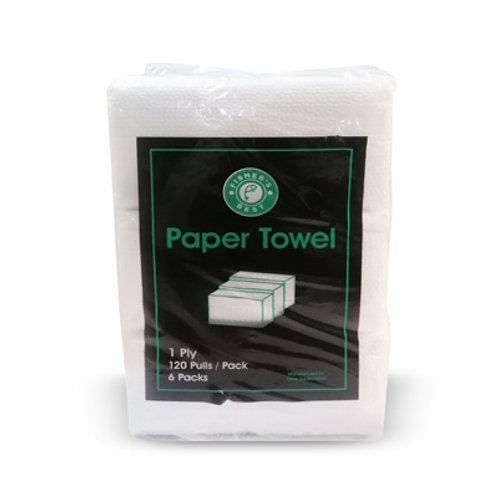 Fisher's Best Paper Towel 1ply 120 pull 6s
