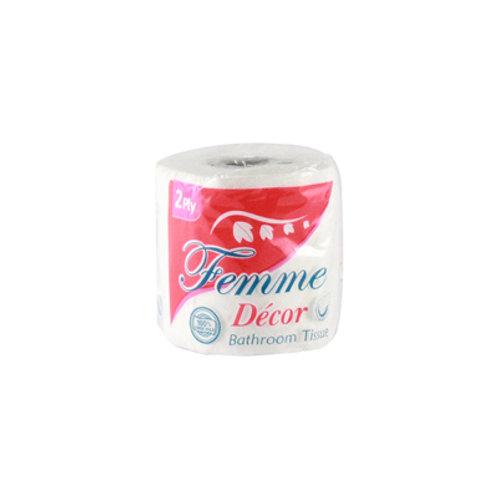 Femme Bathroom Tissue 2ply Single 300 sheets