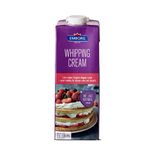 Emborg French UHT Whipping Cream 1L
