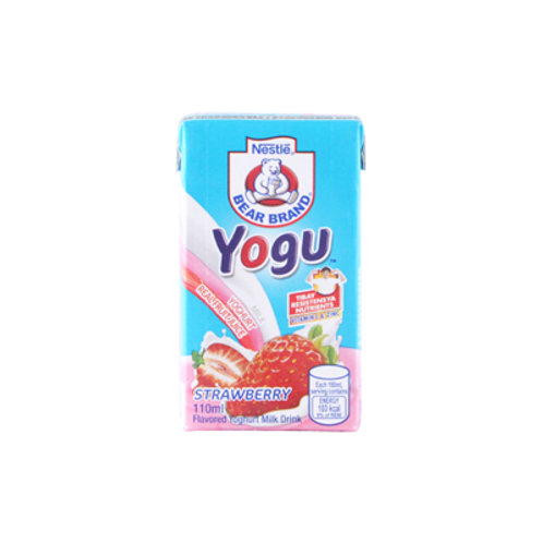 Bear Brand Yogu Strawberry Yoghurt Milk 110ml