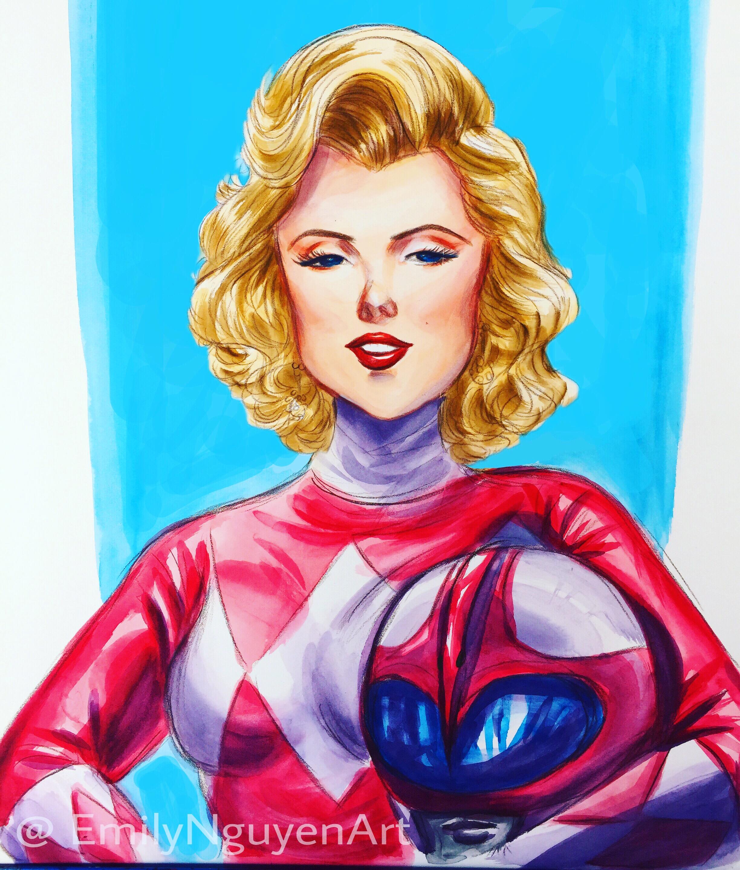 Pink Ranger Marilyn Monroe