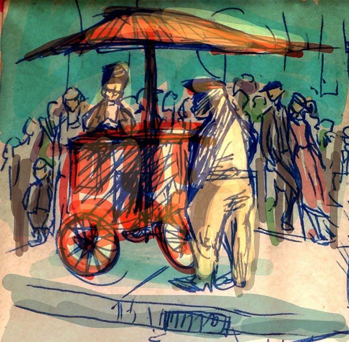 Brooklyn Heights -- Food Cart