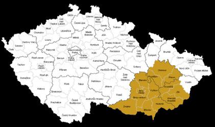 Působnost v rámci České republiky