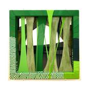 Forest,fabric,ceramic,frames,acrylic,52.5(w)x52.5(h)x9.5(d)cm,2020