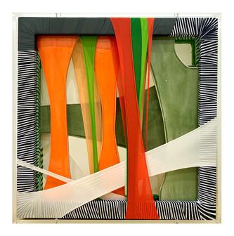 Imagine,fabric,ceramic,frames,acrylic,52.5(w)x52.5(h)x9.5(d)cm,2020