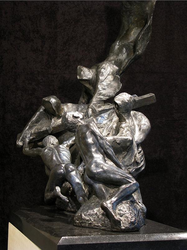 Revelations 12:7  Bronze by Scott Johnson