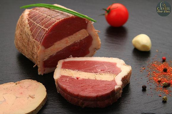 Rôti de magret au foie gras