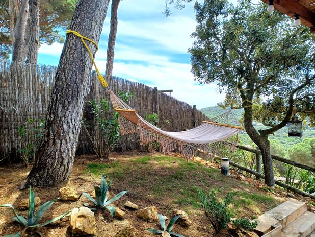 hangmat mediterrane tuin