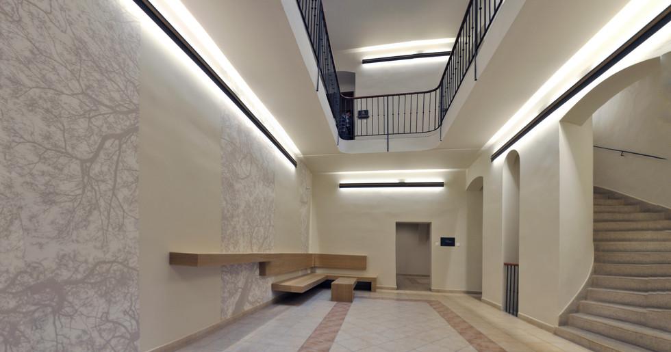 Interiér vstupních prostor