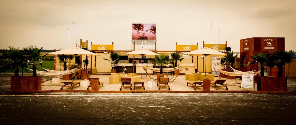 Mobilní párty pláž Camel