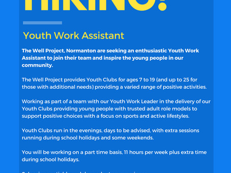 JOB OPPORTUNITY - ASSISTANT YOUTH WORKER
