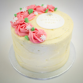 Floral Themed Carrot Cake