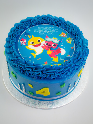 Baby Shark Edible Image Cake