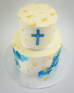 Baby Christening Two Teir Cake