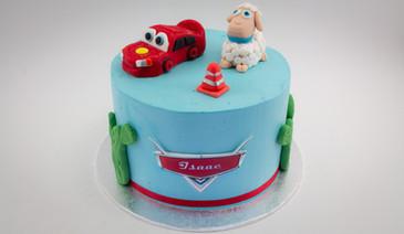 Cars Fondant Cake
