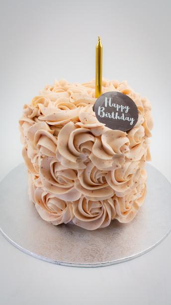 6 Inch Berry Floret Birthday Cake
