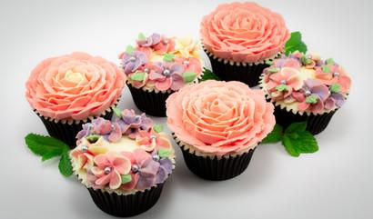 Premium Floral Cupcakes