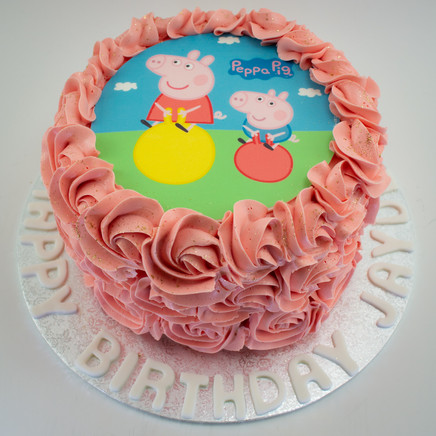 Peppa Pig Edible Image Cake