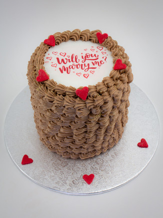 Will You Marry Me Edible Image Cake