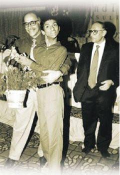 Student Chetan with Subroto Bagchi and A