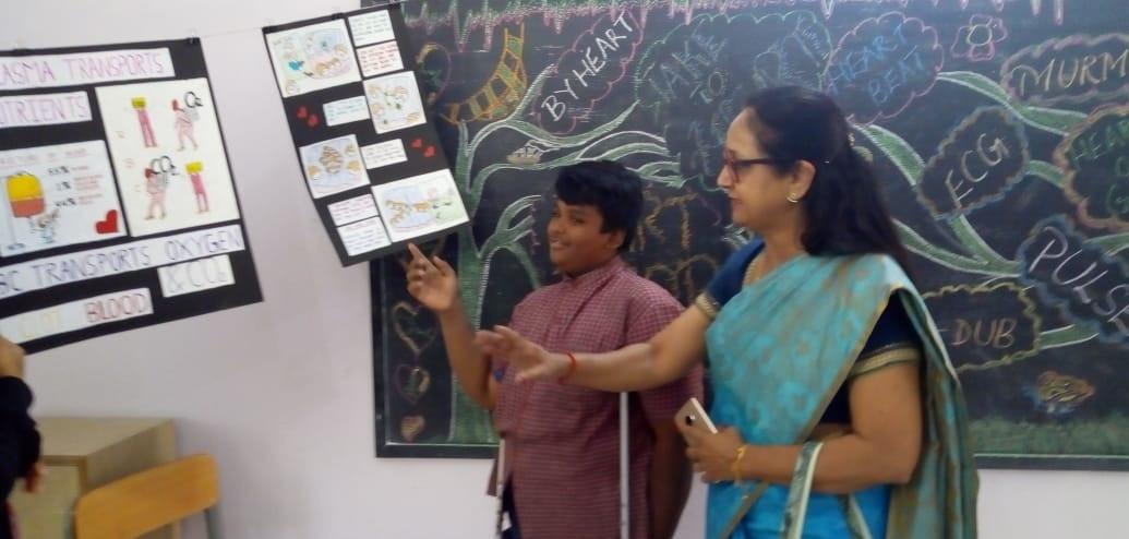 11. Volunteer, Mrs. Rema Raman with stud