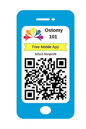 QR code for The Ostomy 101 mobile app