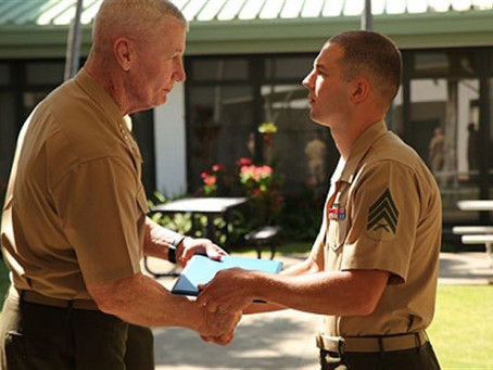 Face of Defense: Marine Saves Corporal's Life Outside a Movie Theatre