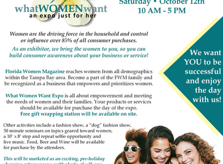 What Women Want Expo Oct.2019-Lutz,Fl