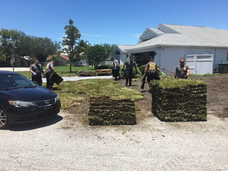 Pasco firefighters help save man- then return to save his lawn