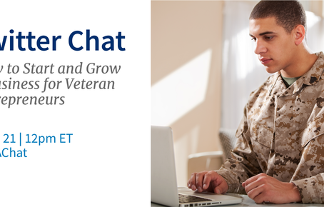 Twitter Chat-How to start & grow a business for Veteran's