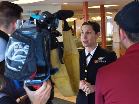 Face of Defense: Navy Midwife Saves Man on Ferry Trip