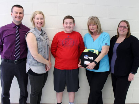 School Staff Use AED To Save 6th- grader Student's Life